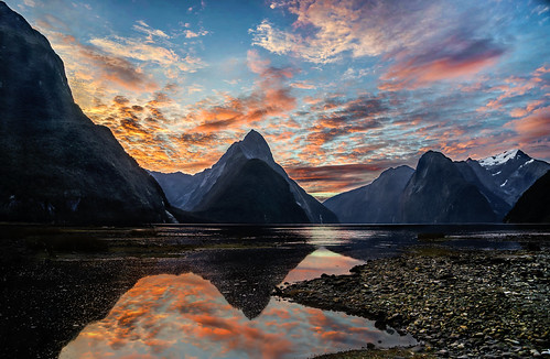 Milford Sound, NZ at Sunset | by Mike Beauchamp