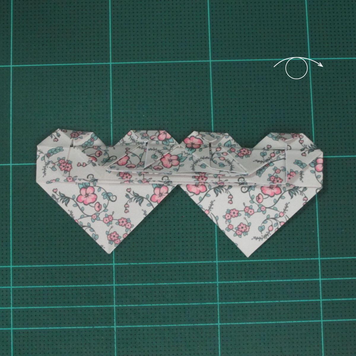 วิธีพับกระดาษรูปหัวใจคู่ (Origami Double Heart)  028