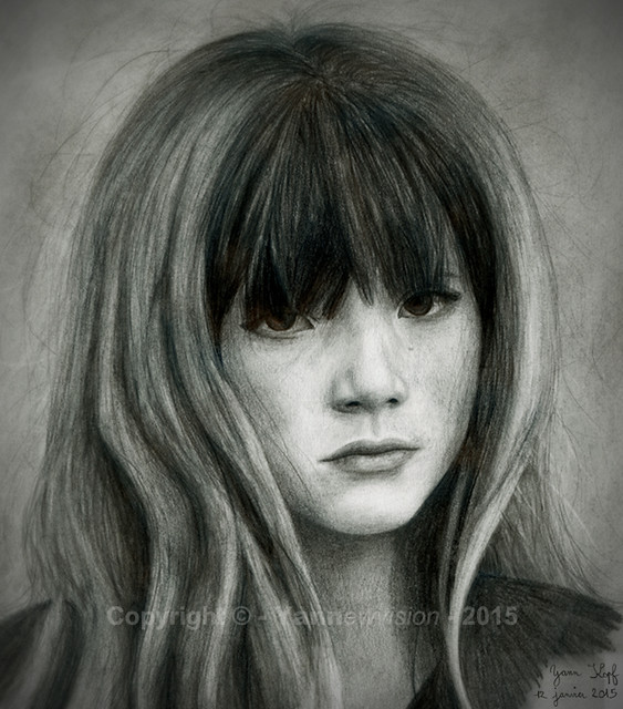 Dessin / Drawing - Portrait Bella Thorne (young) © Yannewvision - 2015