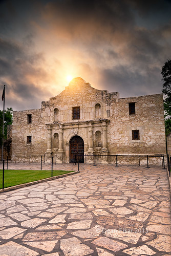 door wood old city travel sky sun building history church monument stone architecture clouds facade america sunrise dawn san war downtown day texas exterior state fort flag entrance battle landmark historic mexican american mission historical antonio sunrays alamo attraction