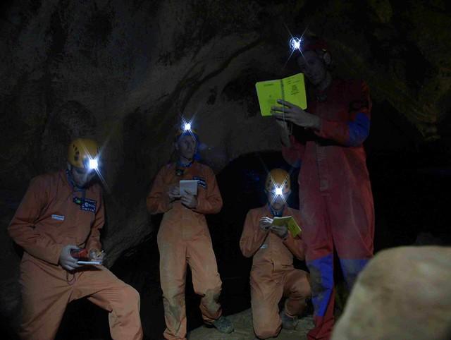 CAVES 2011 Preparatory training Day2 cave mapping - copyright ESA-Sirio Sechi01