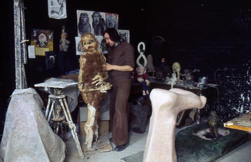 Sculpture studio in the 1980s