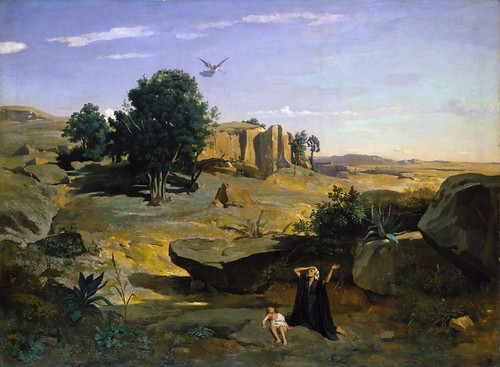 Camille Corot - Hagar in the Wilderness [1835]