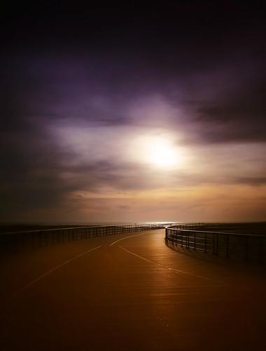 light sunset sun robert beach vertical fence dark landscape gold haze purple walk longisland moses boardwalk plank vignette babylon fireisland robertmoses