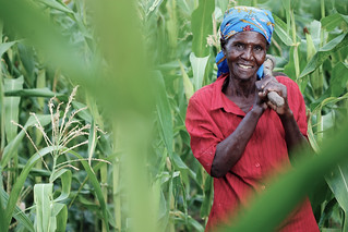 Woman farmer at the Nyando Climate Smart Villages | by CGIAR Climate