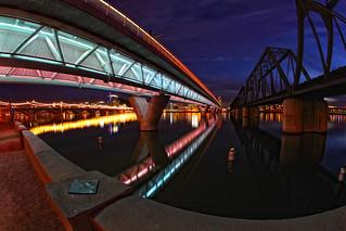 Rail Road Bridges Tempe Town Lake