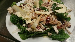 spinich and pear salad | by CLNH Lunchbox Cafe