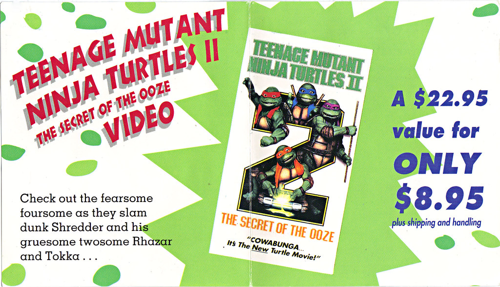 "TEENAGE MUTANT NINJA TURTLES II : THE SECRET OF THE OOZE :: ""YO DUDES ..."" ; TMNT II Video Offer form ii  (( 1993 )) by tOkKa"