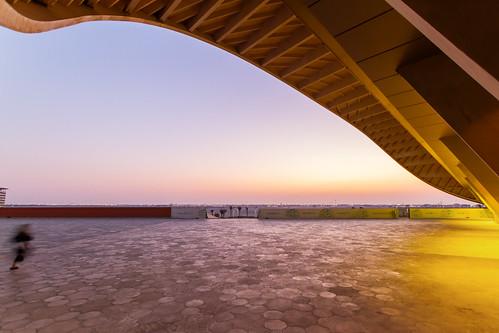 wood sunset architecture masdarcity uae2014 knowladgecentre