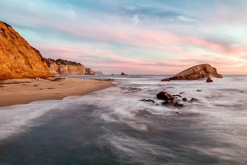 ocean california sunset seascape beach landscape coast couple pacific dusk shore greyhoundrock bluff greyhoundrockcountypark