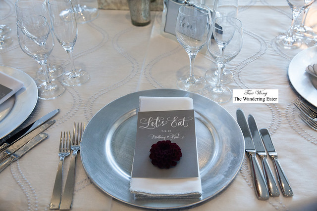 Plate setting for a wedding