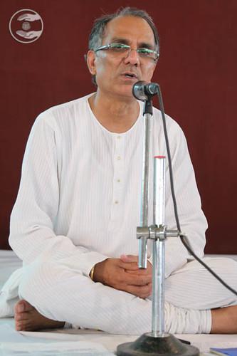 Stage Secretary, Ashok Shauq from Vikaspuri