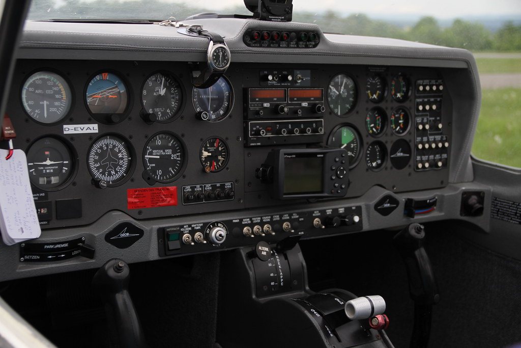 Grob G115 D Acro auf dem Grasberg | Das ist das Cockpit der