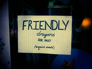 FRIENDLY dragons for sale! (enquire inside), 21 June 2013 | by ed_needs_a_bicycle