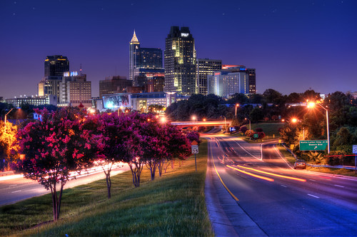 street sunset skyline lens evening nikon long exposure downtown angle south north bracket wide raleigh trail crepe carolina myrtle nikkor hdr saunders