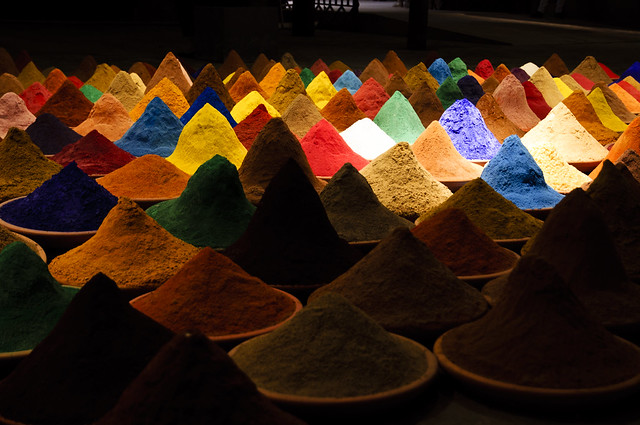 Campo de Color. 2012 – 2013 Installation, various pigments and spices