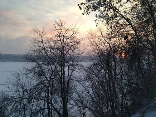 morning winter snow cold ice sunrise river day cloudy foggy fair freeze hazy
