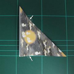 วิธีพับกระดาษเป็นรูปลูกสุนัข (แบบใช้กระดาษสองแผ่น) (Origami Dog) 027