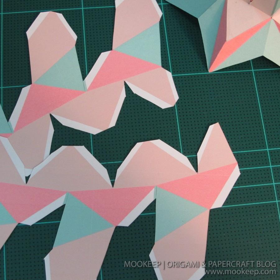 สอนทำโมเดลกระดาษเป้นรูปแจกันโบราณ (Papercraft Model Flower Vase) 021