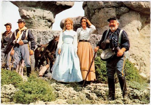 Karin Dor, Marie France and Kurt Grosskurth in Der letzte Mohikaner (1965)