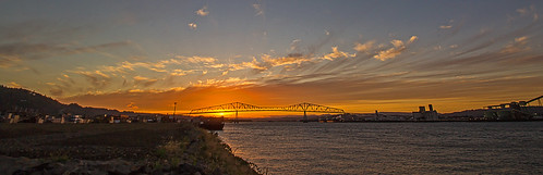 sunset oregon rainier longview portdocks