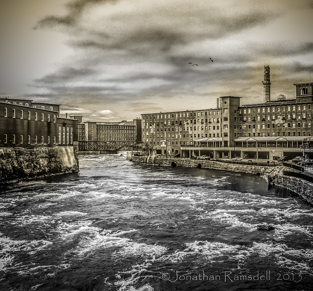 75 years after people - factory island from bridge-