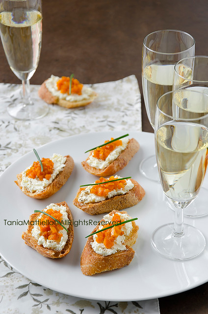 Crostini con Zucca e Formaggio-Cheese and Pumpkin Crostini