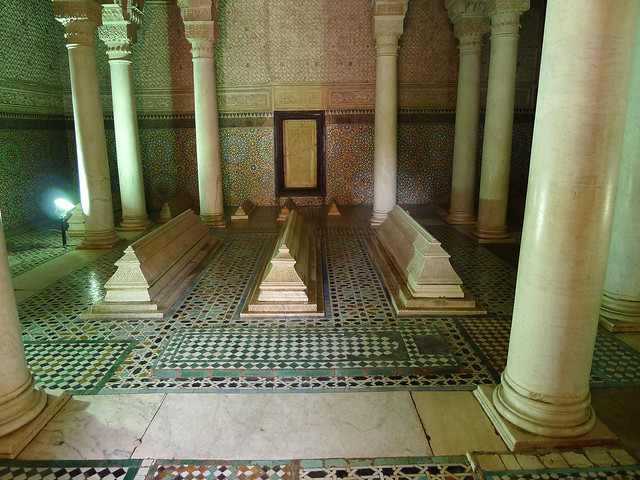 Saadian tombs, Marrakesh. 16th Century.