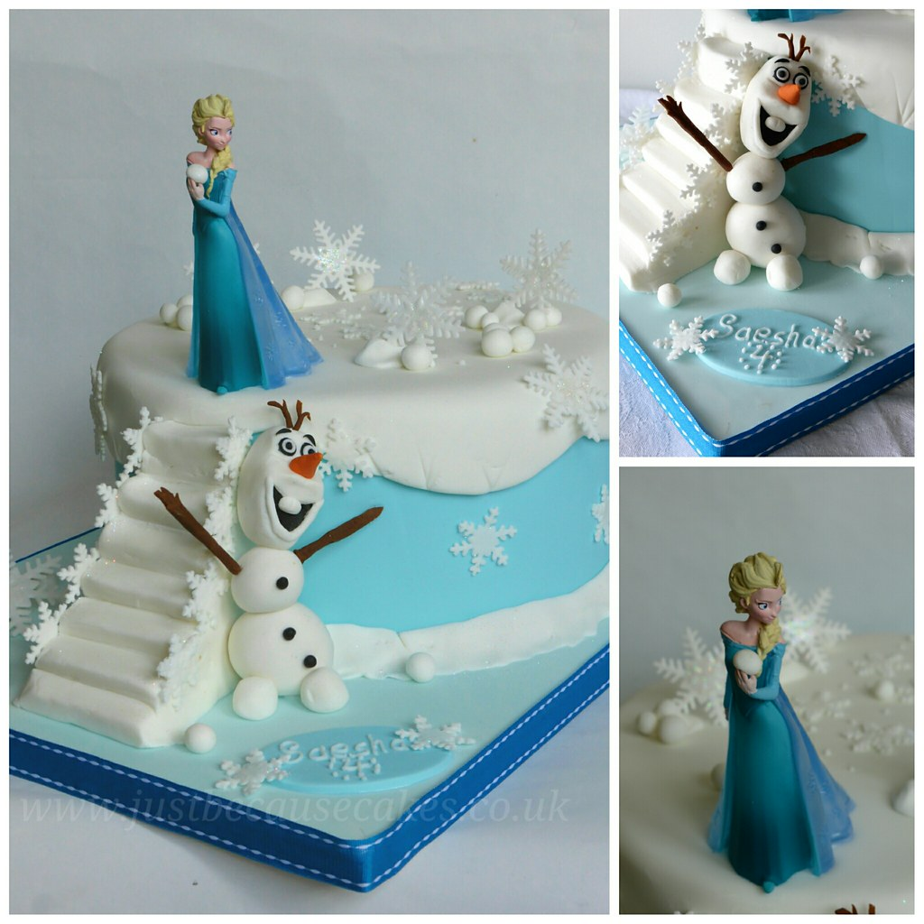 Strange Just Because Cakes Disneys Frozen Birthday Cake With El Flickr Funny Birthday Cards Online Overcheapnameinfo