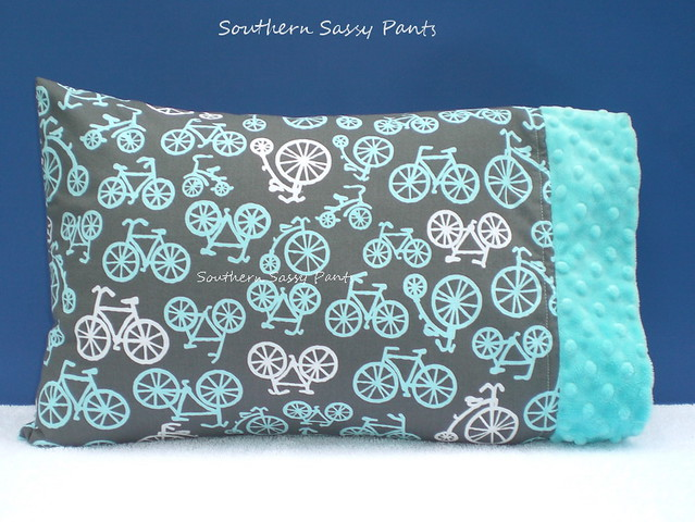 Baby Boy Pillow - Bicycles