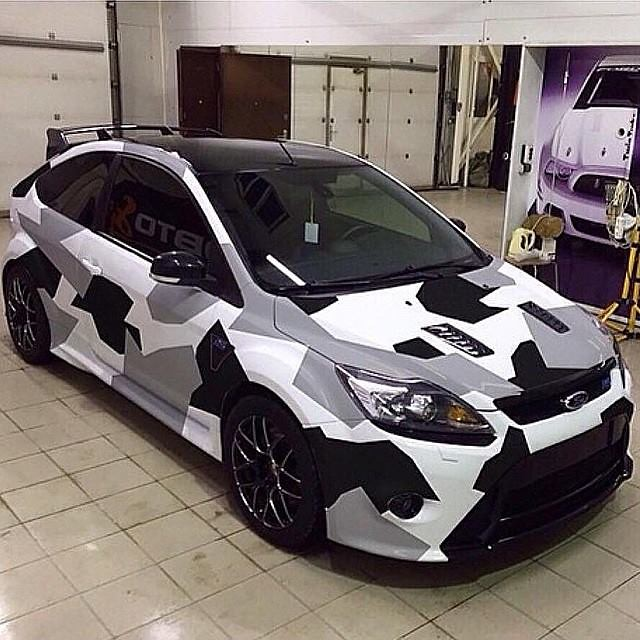 Who S A Fan Of Camo Wraps Ford Focus Focusrs Rs Rsoc
