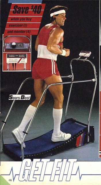 Get Fit- primitive treadmill 1986