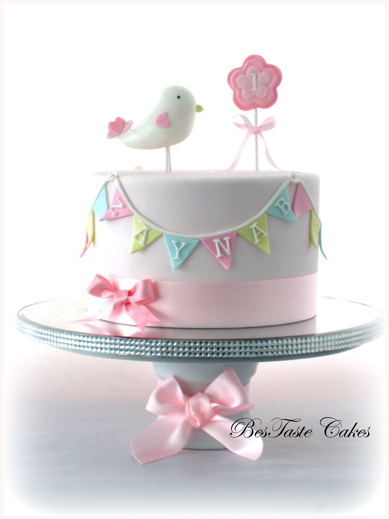 Miraculous Little Bird Cake Girls 1St Birthday Cake Bestaste Cakes Flickr Personalised Birthday Cards Cominlily Jamesorg