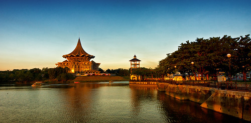 city blue sunset reflection building water river boat asia waterfront availablelight sony places sarawak malaysia borneo getty alpha slt gettyimages a77 waterscape gettyimage sonyalpha sungaisarawak sarawakborneo iamflickr alphagalleria iamlfickr slt77