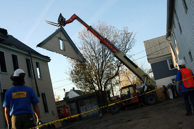 there goes the dormer facade