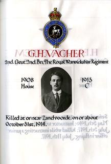 Vacher, George Herbert (1894-1914) | by sherborneschoolarchives