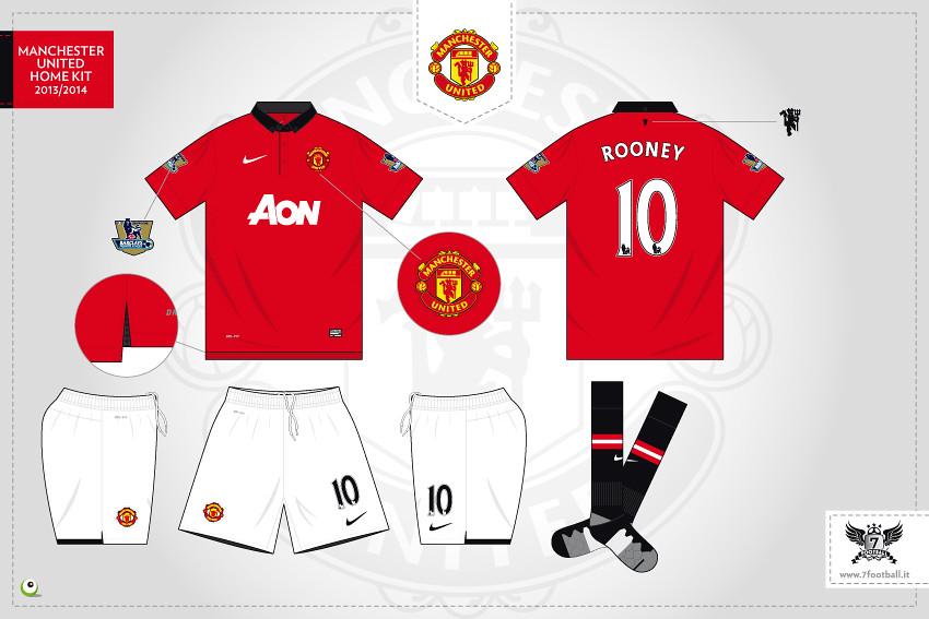 online store c7ca1 b29bc Manchester United home kit 2013/2014 | More images here www ...