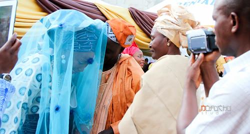 blue wedding bride traditional nigeria kwara ilorin nofuchu