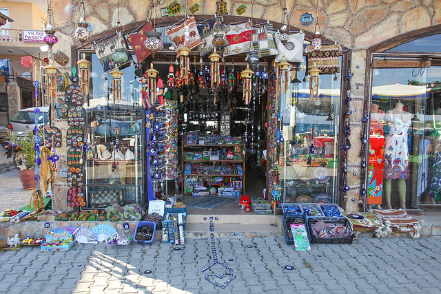 Side - souvenir  shop entrance in the bazaar 2