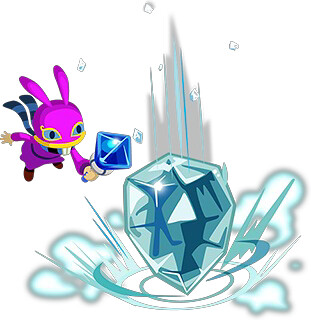 Ravio demonstrando o ice rod