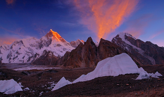Masherbrum: Fire in the sky