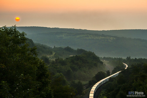 railroad mountains sunrise landscape unitedstates pennsylvania ns trains westslope roadrailer gallitzin nspittsburghline nswestslope