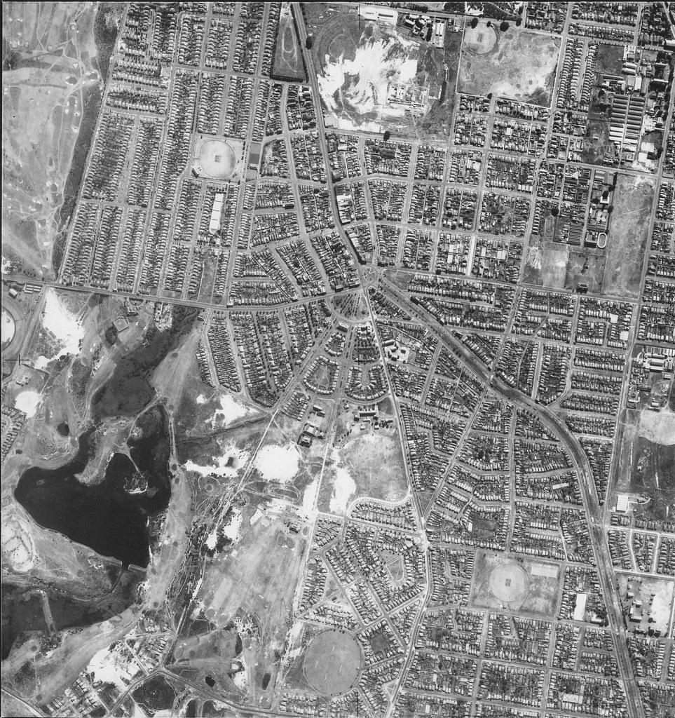 Kingsford, Daceyville & Randwick 1953 - Sydney aerial photo