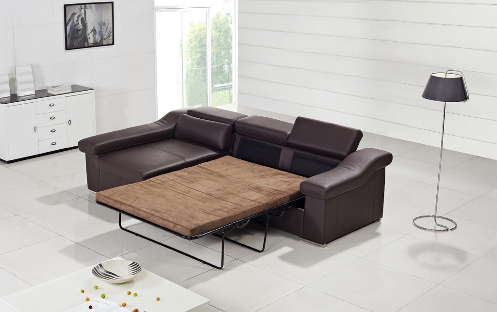 Modern Leather Sofa Bed furniture in Brown color - VGYIT13… | Flickr