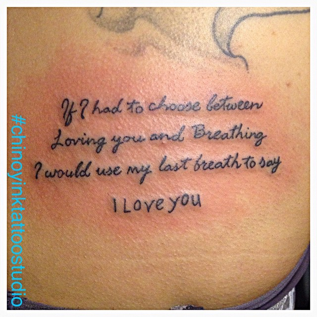 Tattoo Font Scrip Fonttattoo Quotes Iloveyou Tattoo Flickr