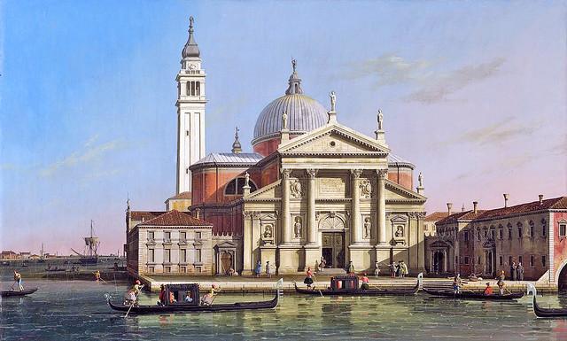 Canaletto - San Giorgio maggiore with sandalos & gondolas