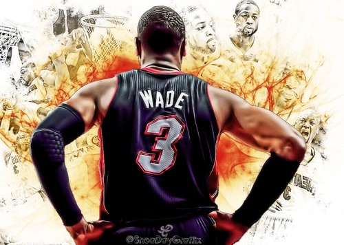 Dwyane Wade NBA Playoffs 2013 | by SheaDayGraffix