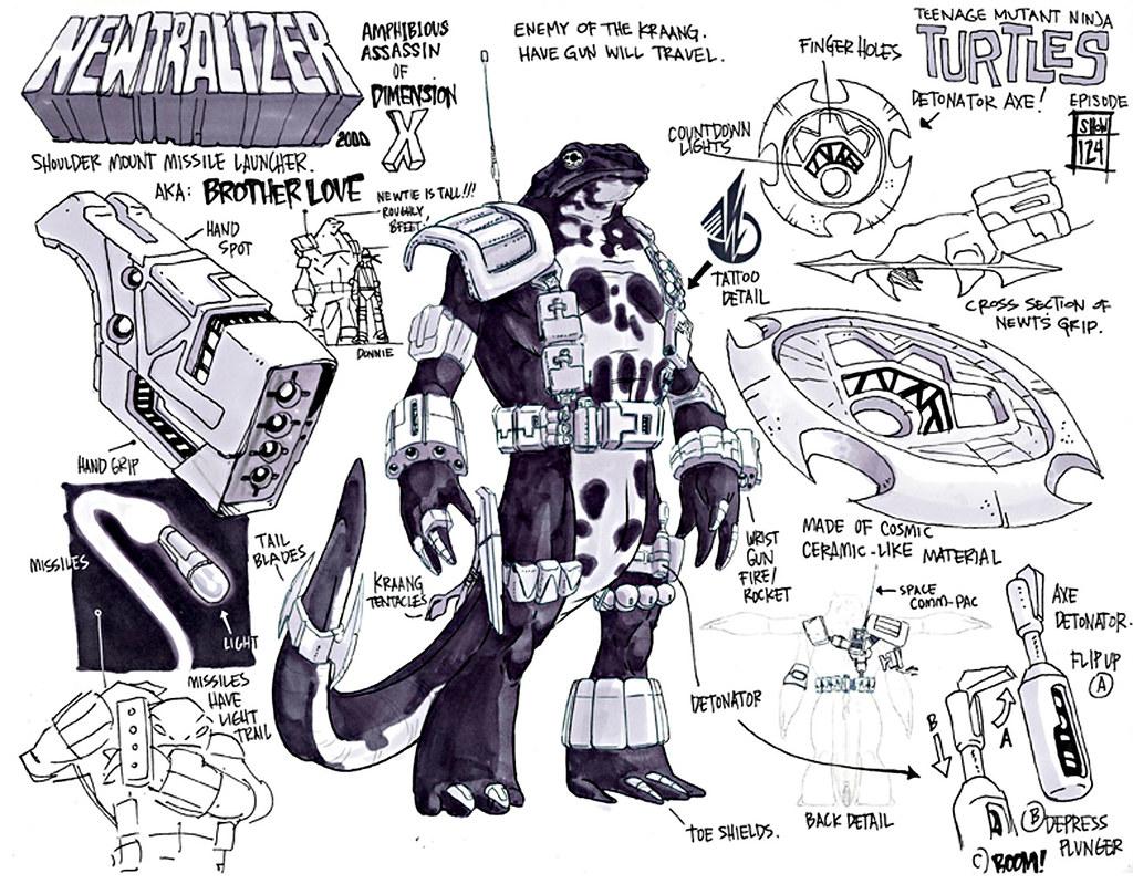 "Nickelodeon TEENAGE MUTANT NINJA TURTLES :: ""NEWTRALIZER"" ; Early production art by Ciro Nieli  (( 2011 )) [[ Courtesy of Nickelodeon ]] by tOkKa"