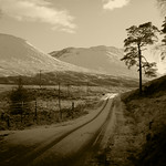 18. Detsember 2004 - 11:21 - Road to Bridge of Orchy  My 'most viewed' photo of all time with now over 41k views