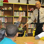 January 31, 2012 - 21:57 - Sheriff B.J. Roberts visited the Young Gentleman's Club of Booker Elementary School made up of 4th and 5th graders. Sheriff Roberts delivered a message on the workings of city and state government to the curious young men. Sheriff fielded questions for more than 30 minutes. Credit: Lt. Alonzo Cherry, Hampton Sheriff's Office